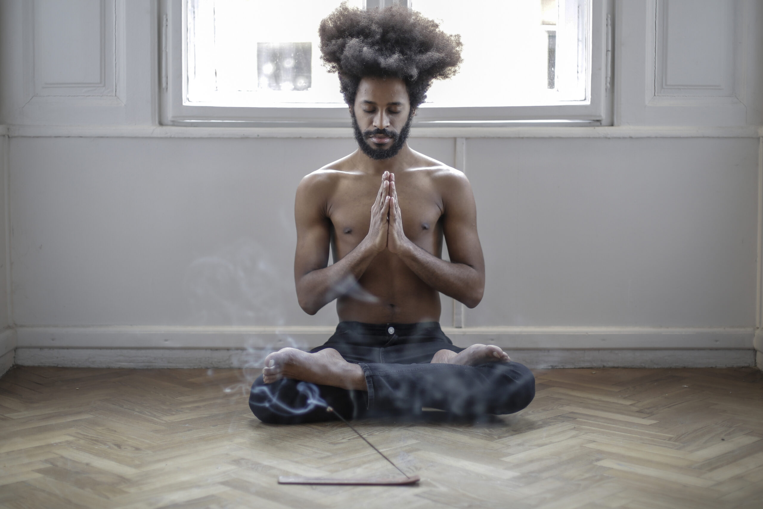 "<a href=""https://www.pexels.com/photo/topless-man-in-black-denim-jeans-sitting-on-floor-doing-meditation-3965401/"" target=""_blank"" rel=""noopener"">Andrea Piacquadio</a> at Pexels"